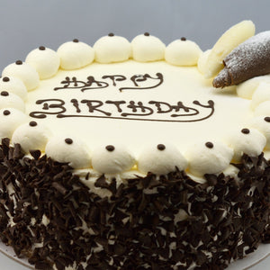 Round Fresh Cream Celebration Cake