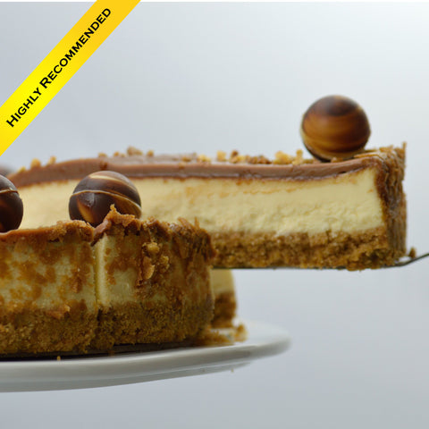 Caramel Crunch Cheesecake {V}