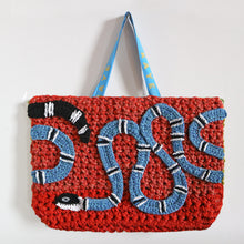 Load image into Gallery viewer, Crochet Snake Bag