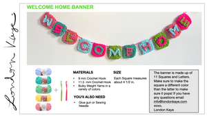 Pattern Welcome Home Sign