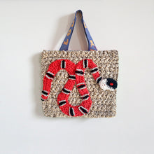 Load image into Gallery viewer, Small Snake Crochet Bag