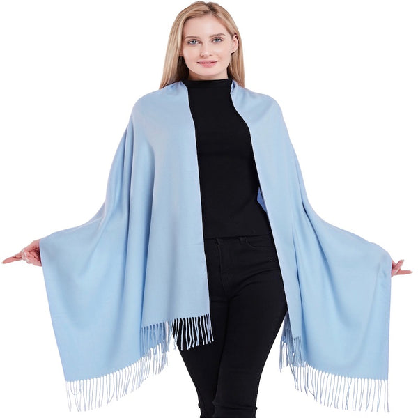 CJ Apparel Thick Solid Colour Design Cotton Blend Shawl Seconds Scarf Wrap Stole Throw Pashmina Face Cover Protection NEW