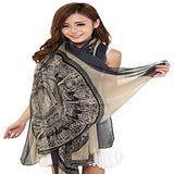 CJ Apparel Large Size Fashion Govi Design Voile Shawl Seconds Scarf Pashmina Face Cover Protection NEW