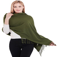 Thick Solid Colour Design Cotton Blend Shawl Scarf Wrap Stole Throw Pashmina Face Cover Protection CJ Apparel NEW