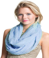 Mobius Infinity Scarf Snood Cowl Circular Tube Eternity Shawl Face Cover Protection CJ Apparel NEW