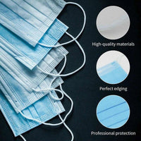 5 x Disposable Protective Face Masks Hygienic Anti Bacterial Face Cover Virus Protection