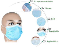 10 x Disposable Protective Face Masks Hygienic Anti Bacterial Face Cover Virus Protection