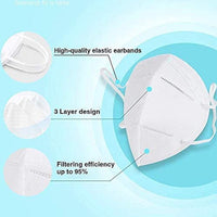 2 x KN95 Medical Face Masks Hygienic Anti Bacterial Face Cover Virus Protection