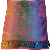CJ Apparel Feather Design Shawl Seconds Scarf Wrap Stole Throw Pashmina Face Cover Protection NEW