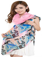 CJ Apparel Multi Color Arhangay Design Voile Shawl Seconds Scarf Pashmina Face Cover Protection NEW