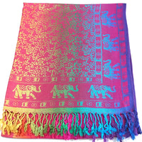 Elephant Design Shawl Scarf Wrap Stole Throw Pashmina Face Cover Protection CJ Apparel NEW
