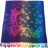 Butterfly Design Shawl Scarf Wrap Stole Throw Pashmina Face Cover Protection CJ Apparel NEW