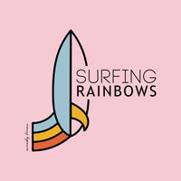 Load image into Gallery viewer, SURFING RAINBOWS Kids Tee
