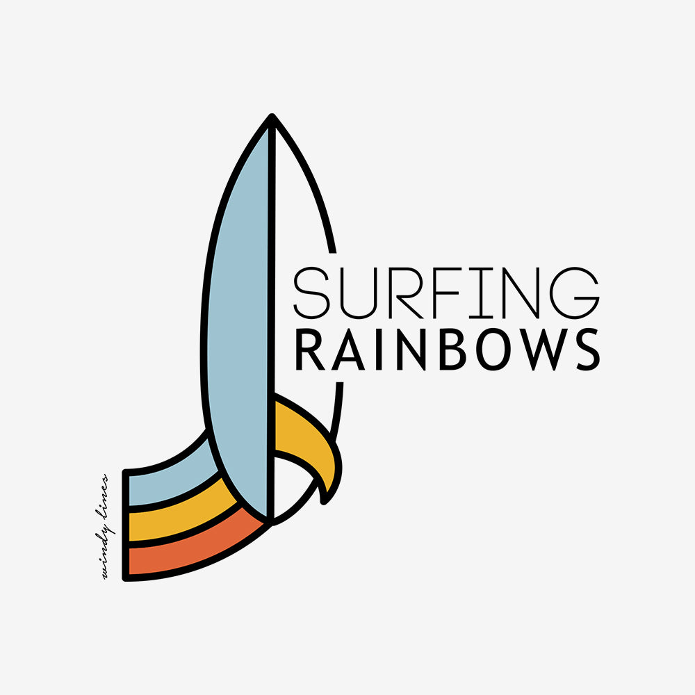 SURFING RAINBOWS Kids Tee