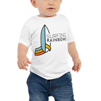 Load image into Gallery viewer, SURFING RAINBOWS Baby Tee