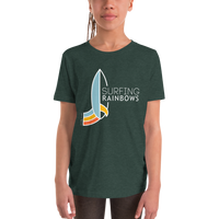 Load image into Gallery viewer, SURFING RAINBOWS Youth Tee