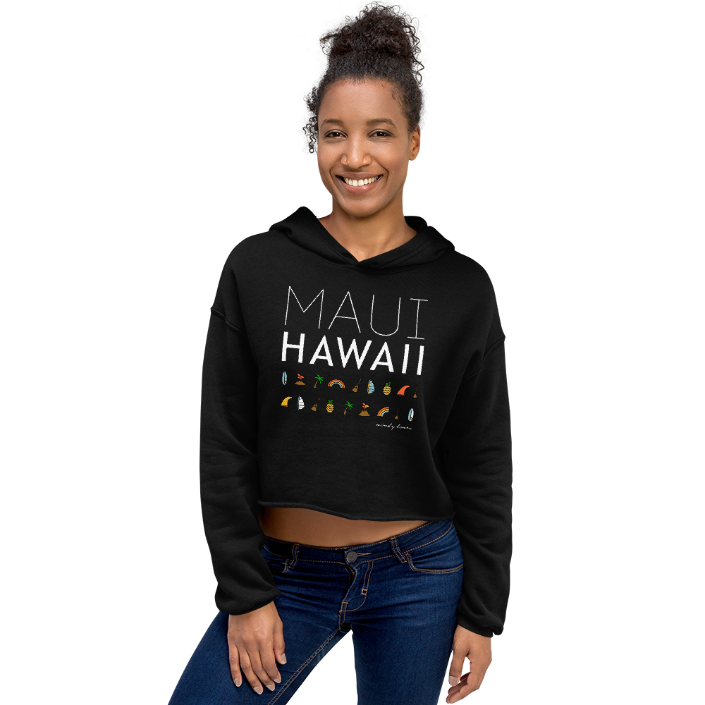 MAUI ELEMENTS Women's Crop Hoodie