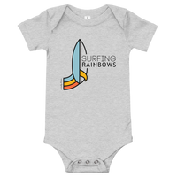 Load image into Gallery viewer, SURFING RAINBOWS Baby One Piece