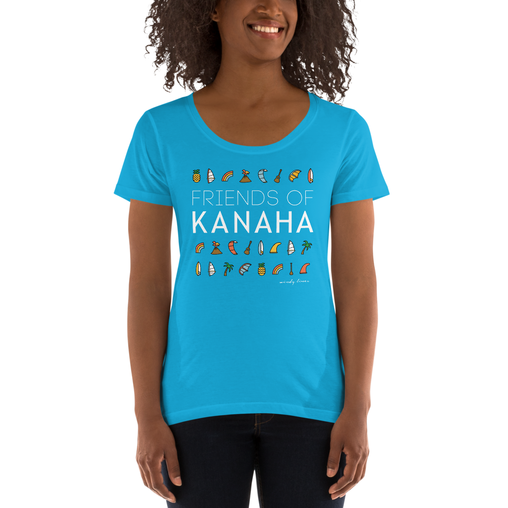 FRIENDS OF KANAHA Women's Scoop Tee