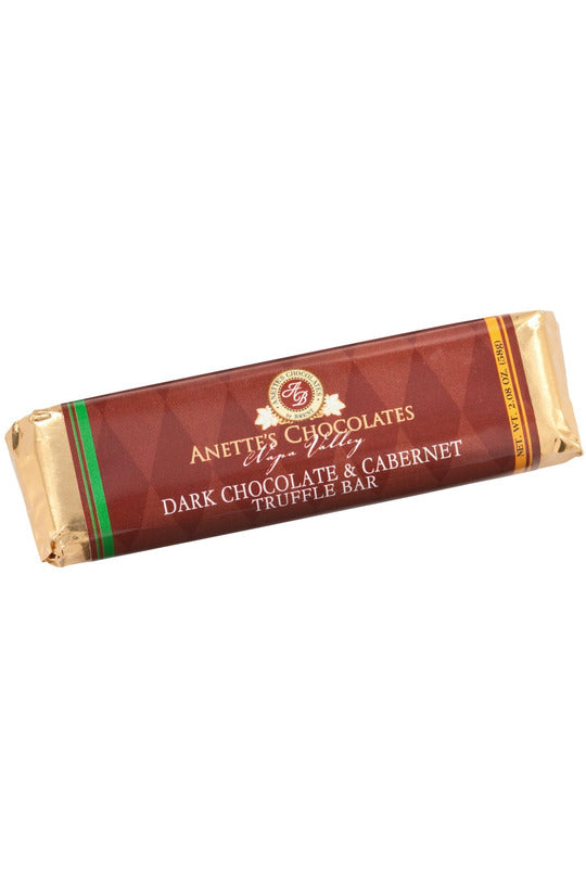 dark chocolate cabernet truffle bar