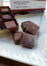 Load image into Gallery viewer, Salted Caramel squares in Dark and Milk chocolate  in 9 piece box
