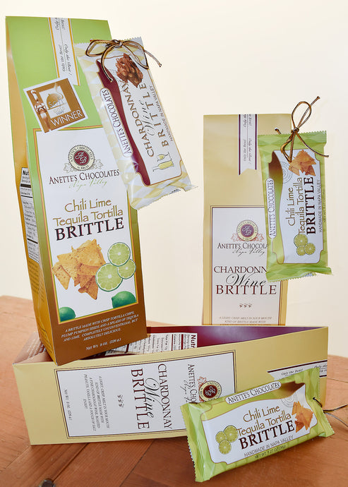 brittle bag and bar gift set in two options
