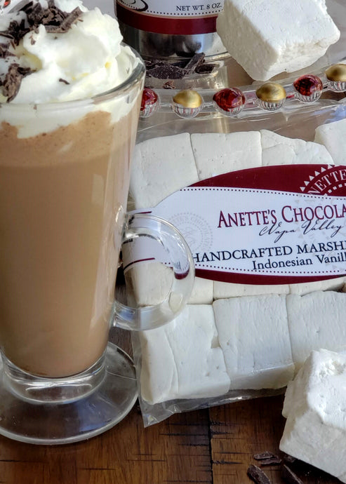 hot chocolate and vanilla marshmallow gift set