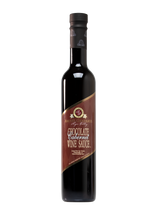 Load image into Gallery viewer, Tall 12.5 oz bottle of chocolate Cabernet wine sauce