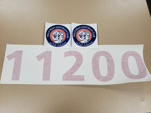 Set of 5 Membership Numbers and Logo Decal
