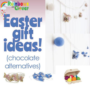 What is Easter? Why do we have bunnies delivering eggs? Are you ready with your chocolate alternatives?-Rainbows and Clover