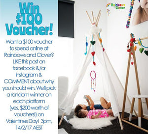 2x $100 vouchers to be won!-Rainbows and Clover