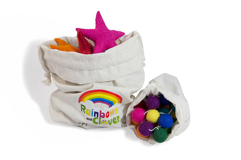 felt ball garland packaging reusable and eco