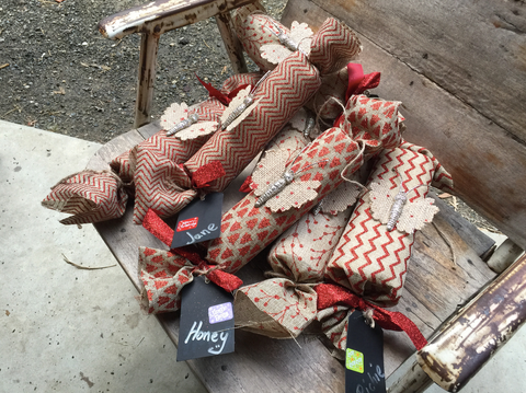 home made christmas crackers with gifts inside