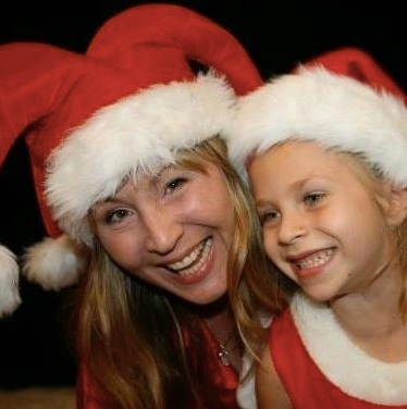 Kylie and Clover at Christmas