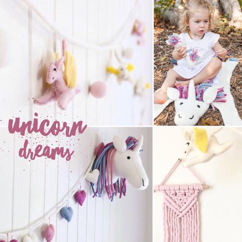 magial unicorn products to create the perfect unicorn bedroom, nursery or play room. For unicorn lovers!