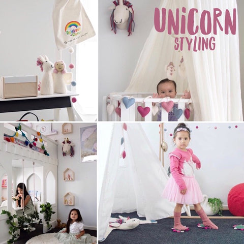 unicorn styling bedroom decor playroom decorations nursery garland mat and rug