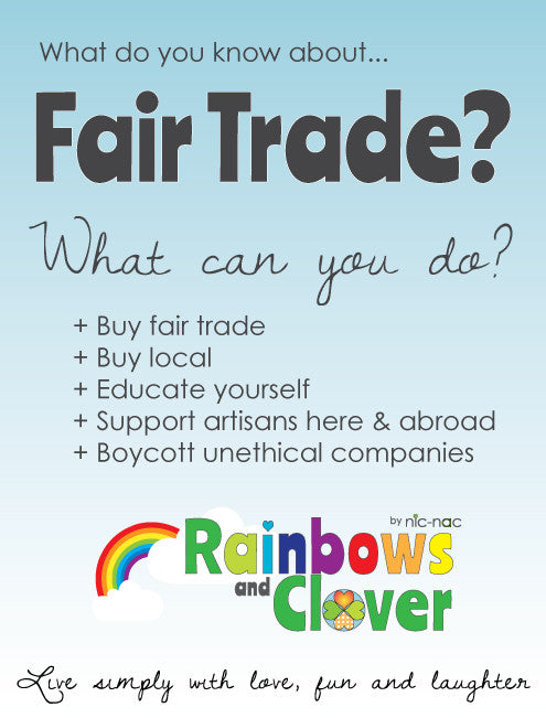 Fair Trade Month October 2018 Rainbows and Clover