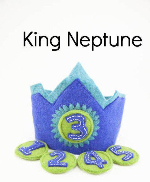 Birthday crowns 1-5 years-crowns-Rainbows and Clover-King Neptune-Rainbows and Clover