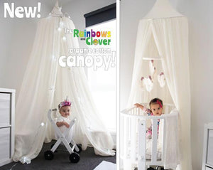 Canopy single bed - 100% cotton-canopy-Rainbows and Clover-Rainbows and Clover