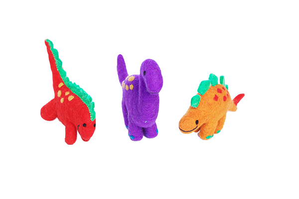 Dinosaur Set of three - Large or small-dinosaur-Rainbows and Clover-set of three large-Rainbows and Clover