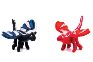 Dragon Set of two-dragons-Rainbows and Clover-Fire and Midnight Dragon Set-Rainbows and Clover