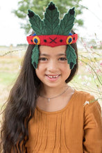 Load image into Gallery viewer, Felt costume headdress-crowns-Rainbows and Clover-Flowers-Rainbows and Clover