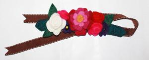 Felt costume headdress-crowns-Rainbows and Clover-Flowers-Rainbows and Clover