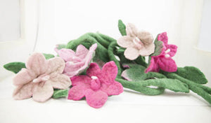 Felt flower garland-garlands-Rainbows and Clover-Rainbows and Clover