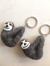 Load image into Gallery viewer, Felt key ring-keyring-Rainbows and Clover-Sloth-Rainbows and Clover