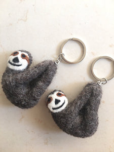 Felt key ring-keyring-Rainbows and Clover-Sloth-Rainbows and Clover