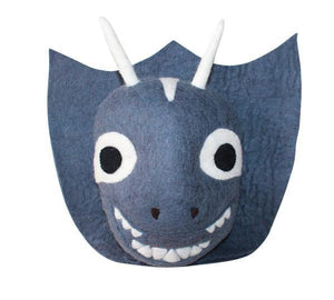Felt magical animal wall head - Unicorn or Dragon-Heads-Rainbows and Clover-Dragon-Rainbows and Clover