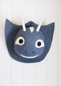 Felt magical animal wall head - Unicorn or Dragon-Heads-Rainbows and Clover-Unicorn-Rainbows and Clover