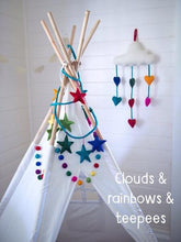 Load image into Gallery viewer, Felt mobiles-mobiles-Rainbows and Clover-natural animals-Rainbows and Clover