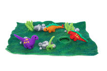 Load image into Gallery viewer, Felt play mats with cave (small) - Forest or Ocean-mats-Rainbows and Clover-forest floor-Rainbows and Clover